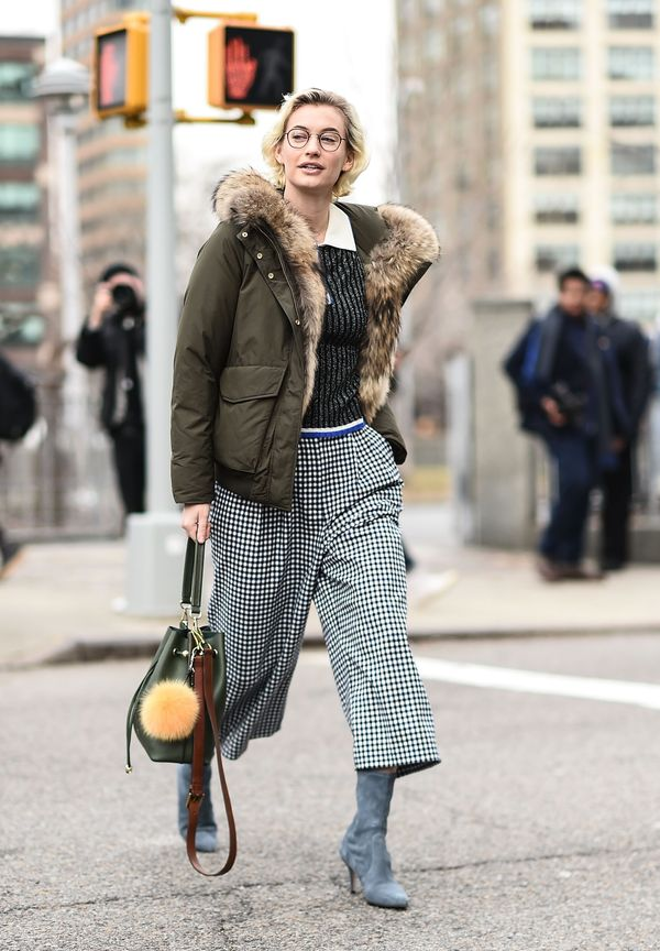 WHO: Zanita Whittington WHAT: New York Fashion Week WEAR: Woolrich bomber jacket