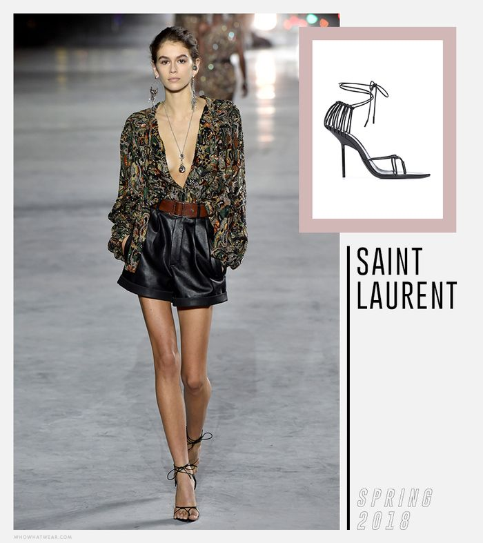 Saint Laurent Strappy Heels Trend