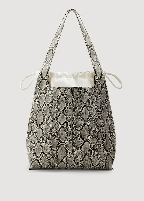 Mango Snake-Effect Hobo Bag