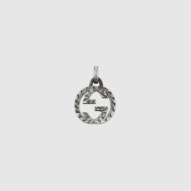 Interlocking G charm in silver