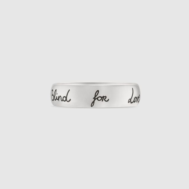 """Blind For Love"""" ring in silver"""""""