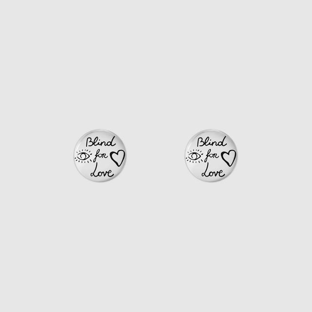 "Blind For Love"" earrings in silver"""