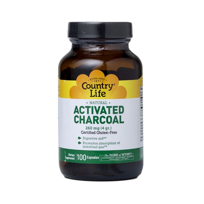 Activated Charcoal Capsules by Country Life