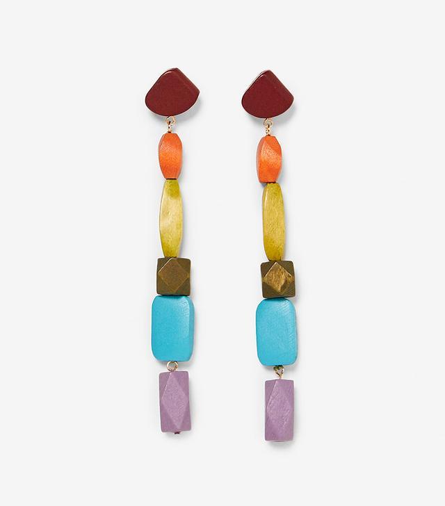 Zara Colorful Wood Earrings
