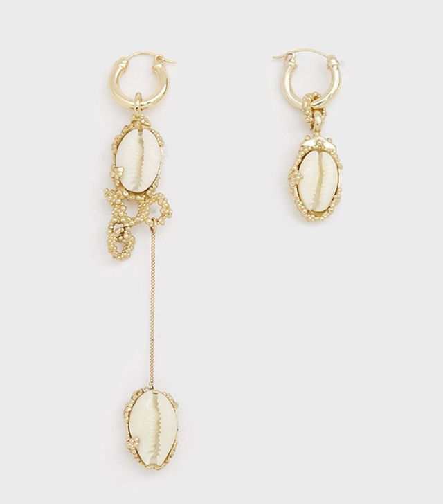 Nalani Asymmetrical Shell Earrings