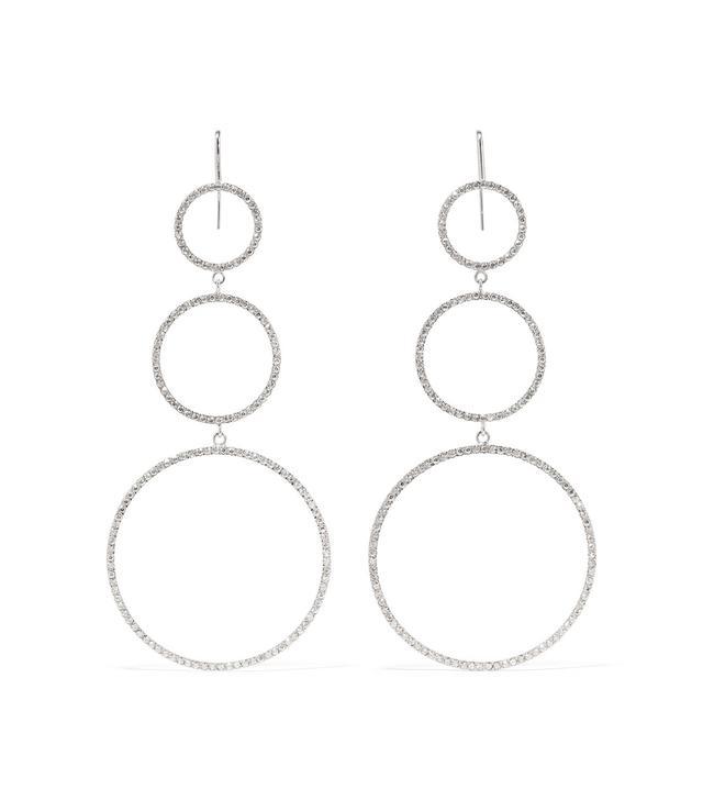 Silver-plated Crystal Earrings