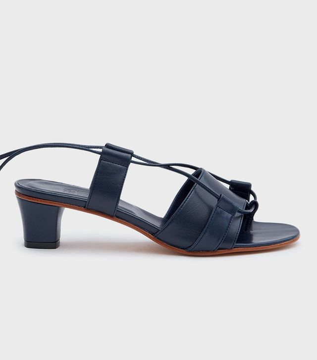 Brubu Wrap Sandal in Navy