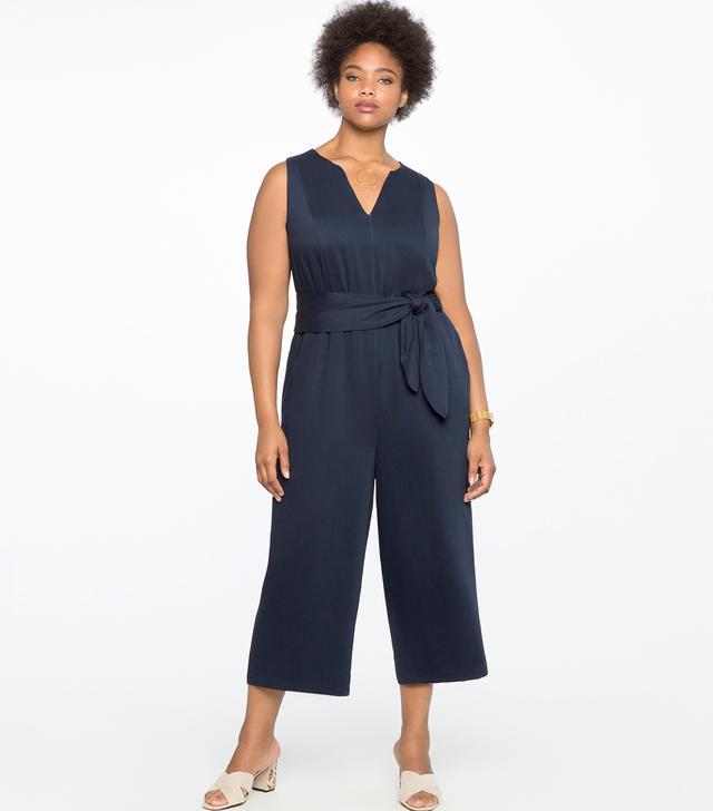 Eloquii Cropped Wide Leg Jumpsuit