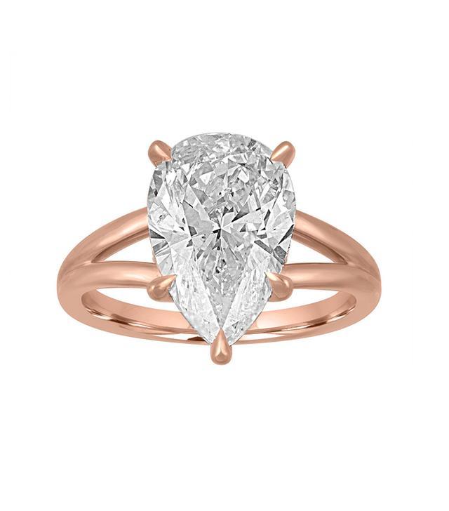 Stephanie Gottlieb Gold Split Shank Engagement Ring