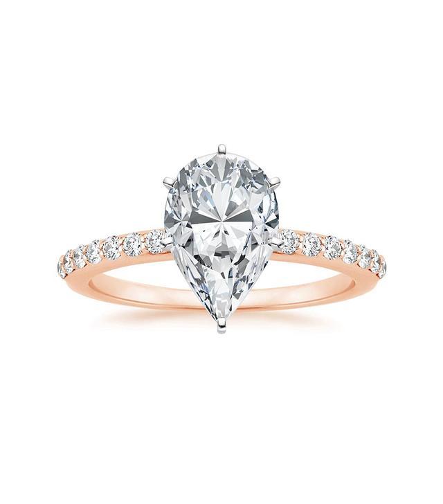 Brilliant Earth Petite Shared Prong Diamond Ring