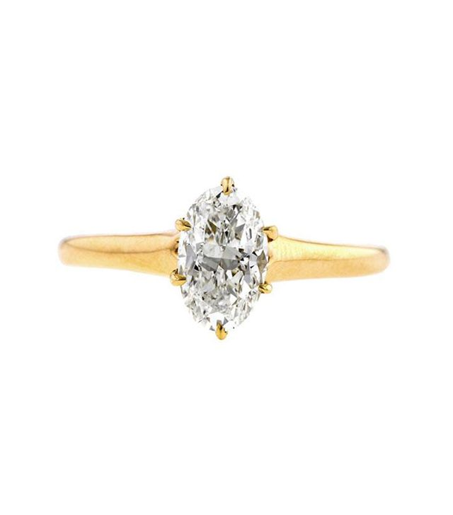 Doyle & Doyle Vintage Oval Solitaire Engagement Ring, 1.02ct