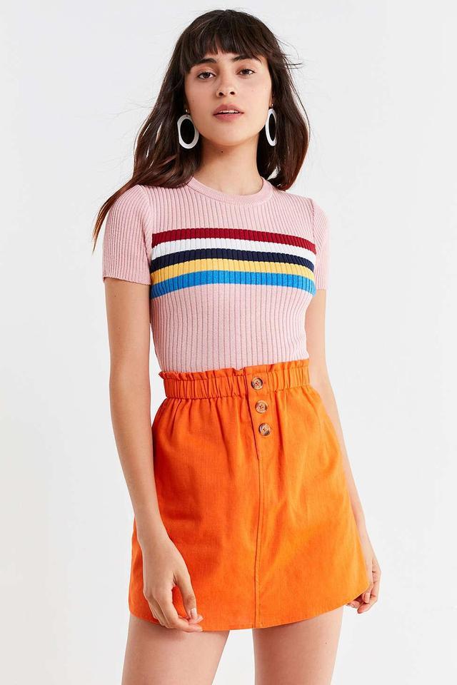 UO Pari Paperbag Mini Skirt