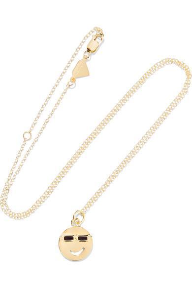 Medium Joe Cool Enameled 14-karat Gold Necklace