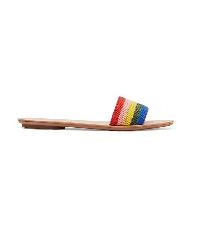 Stella Striped Alpaca Slides