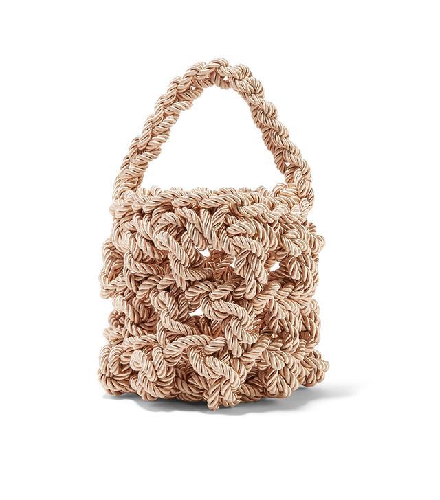 Sylvia Woven Satin Shoulder Bag