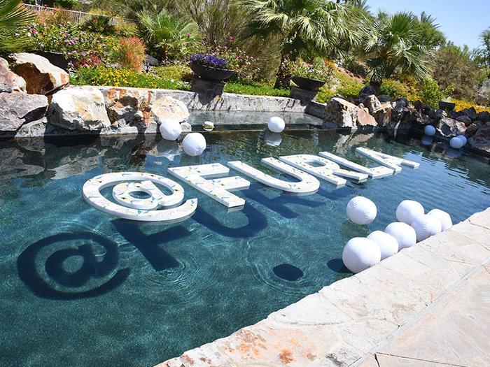 Furla's poolside party at Coachella