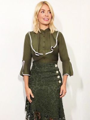 Holly Willoughby Just Wore the Most Flattering Dress—and It's a Warehouse Gem