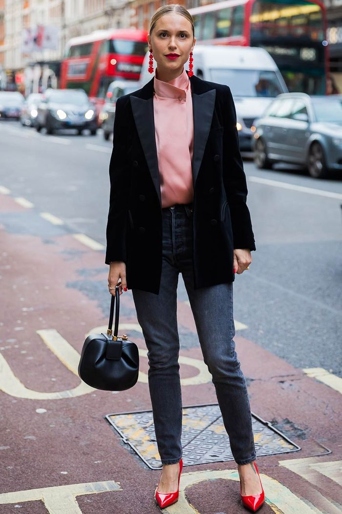 Pernille Teisbaek in a black blazer