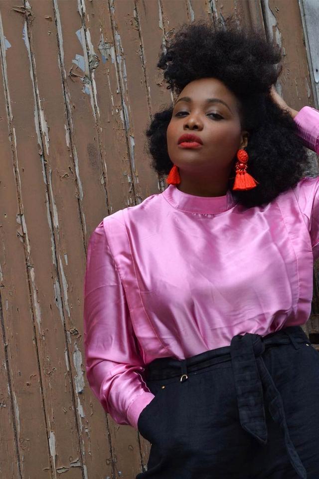 Ada Oguntodu pink outfit