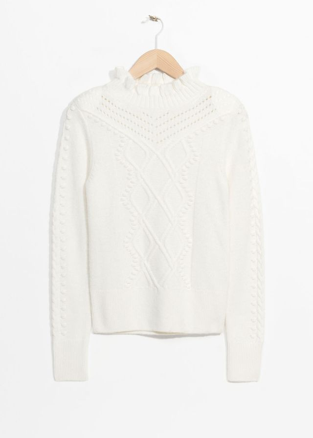 & Other Stories Cable Braid Jumper