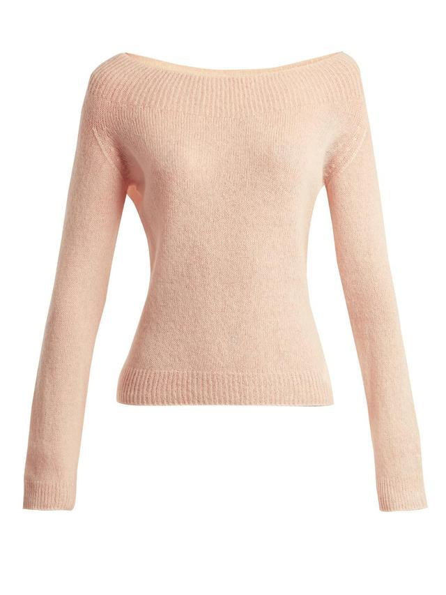 Kolbie boat-neck cashmere-blend sweater