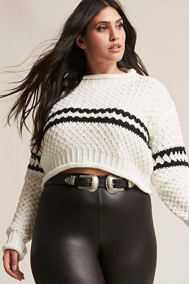Plus Size Stripe Sweater