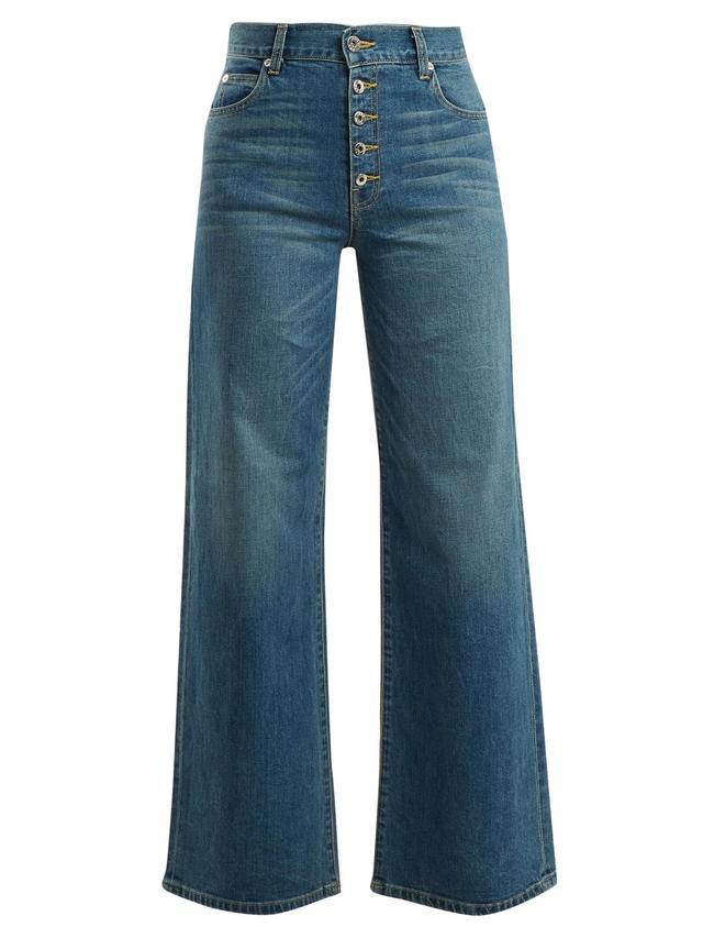 Charlotte high-rise wide-leg jeans