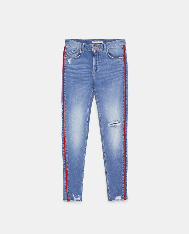 Zara Z1975 Jeans with Side Stripes