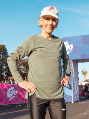 The Original Women's Olympic Marathon Champion, Now 60, Is Still at It