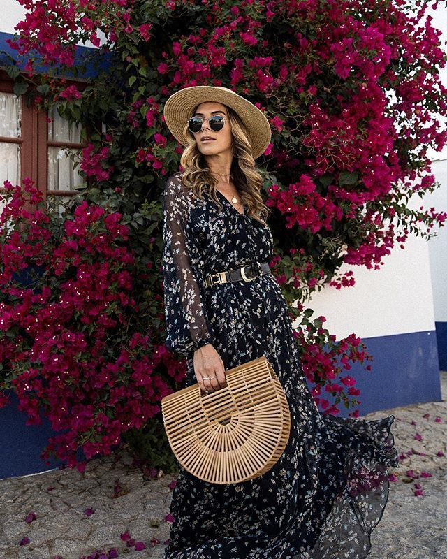 Printed Dress + Boho Accessories for Kentucky Derby