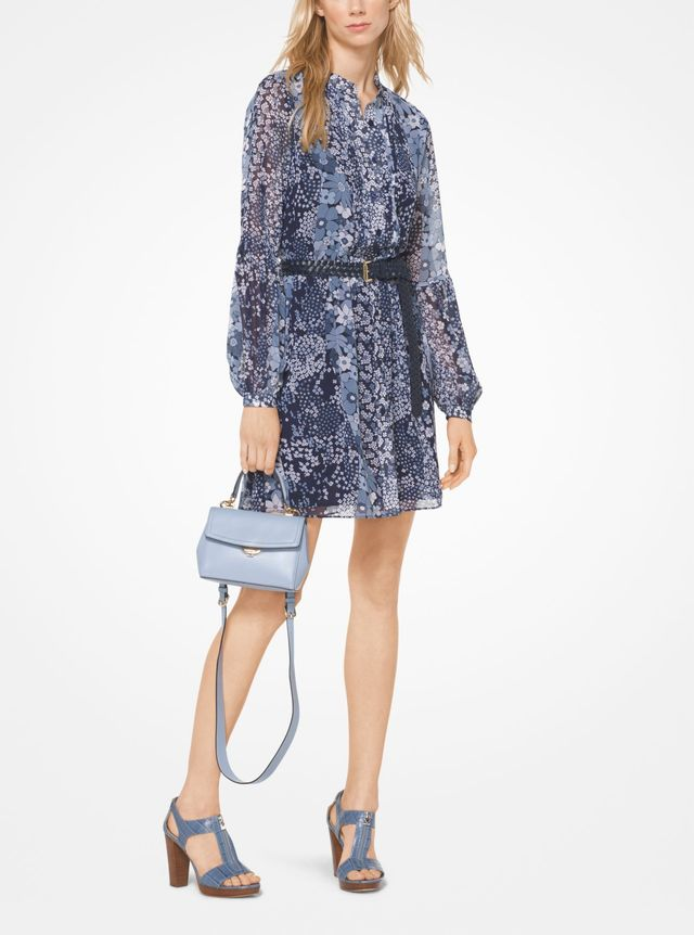 Michael Michael Kors Mixed Floral Chiffon Shirtdress