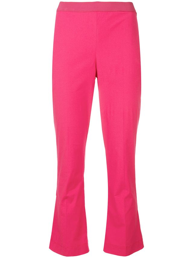 Twin-Set Cropped Flare Leg Trousers