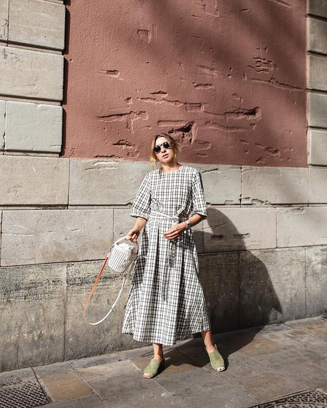 Zara checked dress