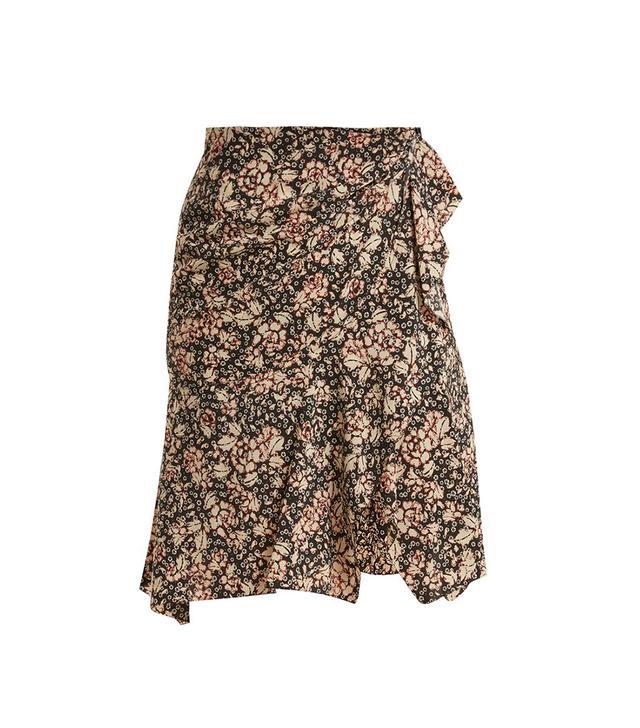 Becka floral-print skirt