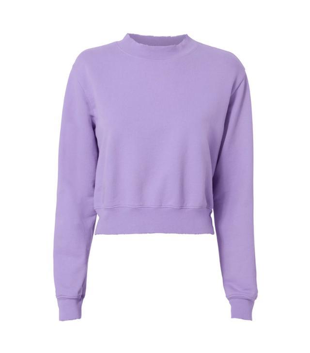 Cotton Citizen Milan Cropped Purple Sweatshirt Purple-Lt P