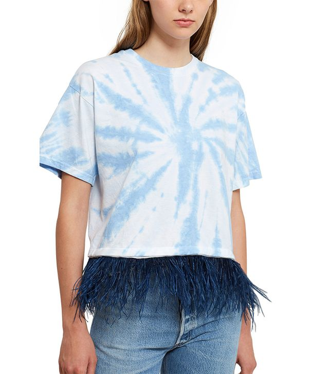 Opening Ceremony Tie-Dye Cropped Feather Tee