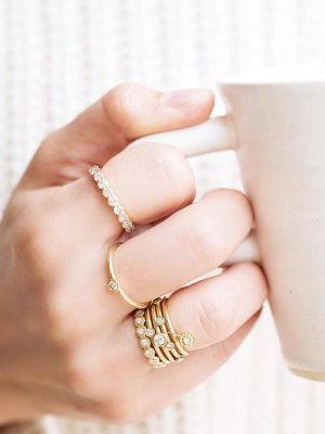 Engaged, Single, Married—These Dainty Diamond Rings Are One Status Fits All