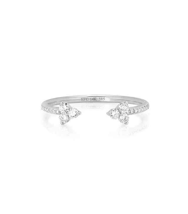 EF Collection Open Diamond Trio Ring