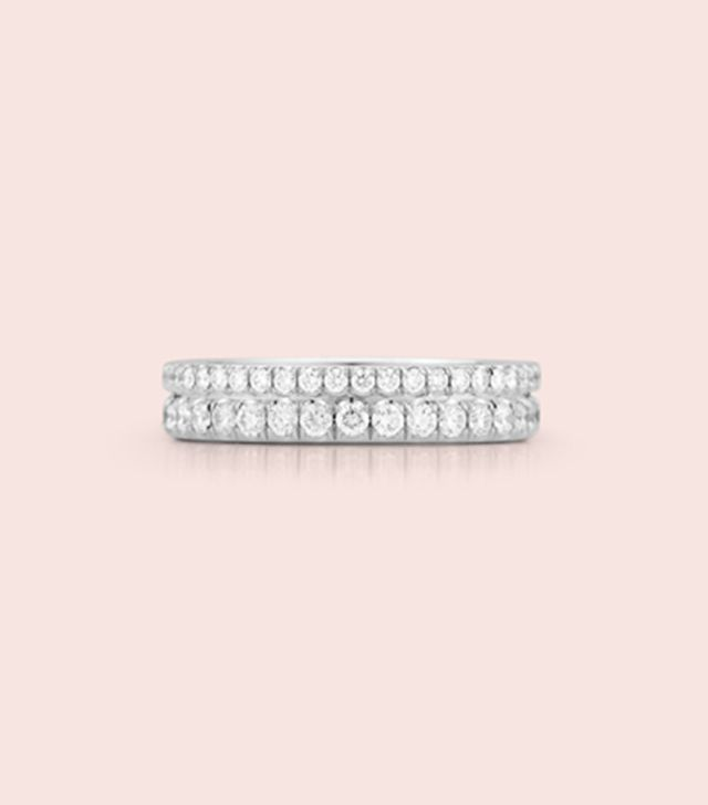 Jemma Wynne Prive Luxe Double Pave Diamond Band Ring