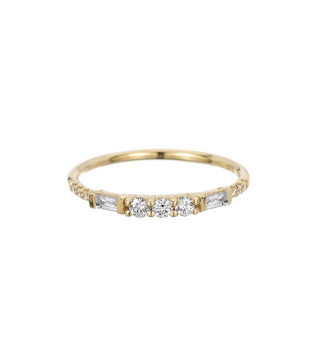 Jennie Kwon 3 Round Diamond Baguette Equilibrium Ring