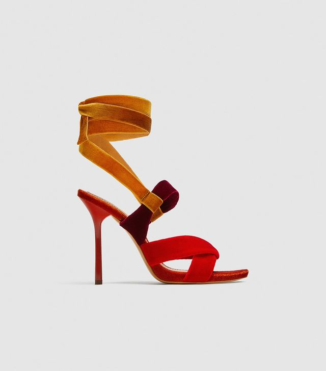 Zara Sandals with Velvet Straps