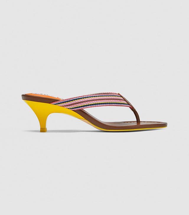 Zara Thong High-Heel Sandals