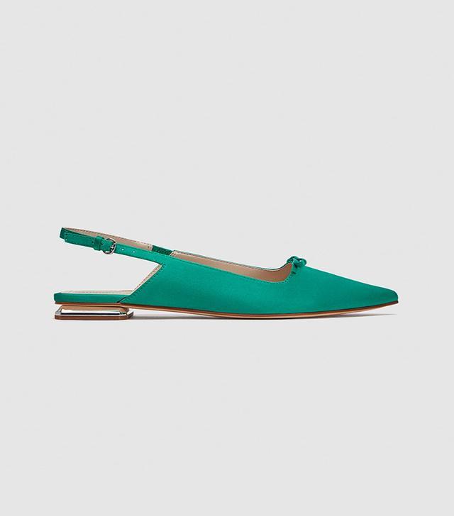 Zara Flat Slingback Shoes