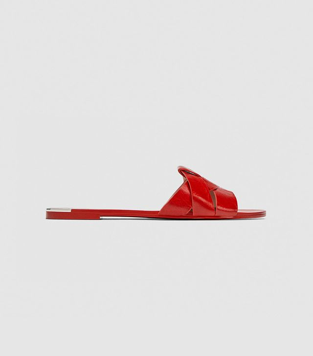 Zara Leather Crossover Sandals