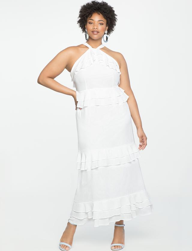 Eloquii Studio Flounce Tiered Dress