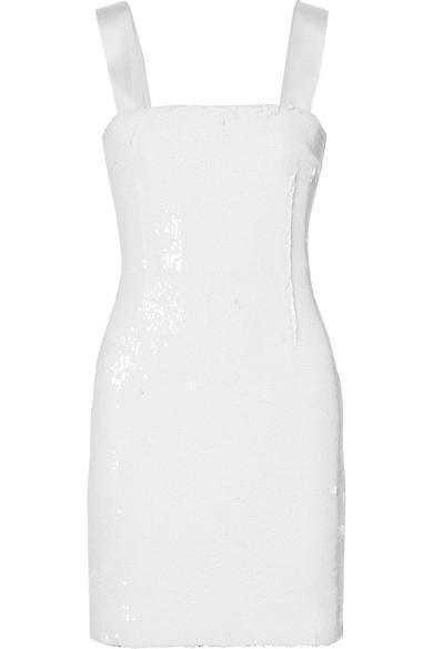 Salar Sequined Chiffon Mini Dress