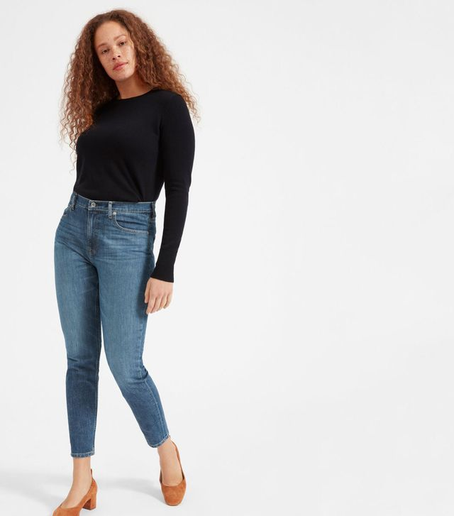Women's High-Rise Skinny Jean (Regular) by Everlane in Mid Blue, Size 33