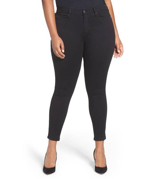 Women's Good American Good Waist High Waist Crop Skinny Jeans
