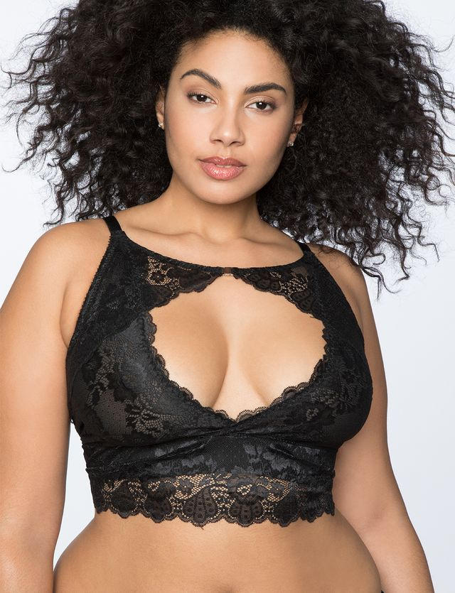 Eloquii Lace Keyhold Bralette