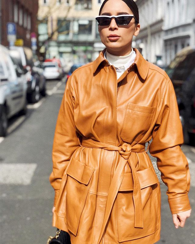 How to style a belted jacket right now